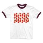 pinkychocolatのいちごちゃんず3 Ringer T-shirts