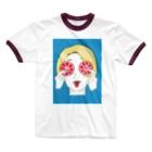 ハル のシティくん Ringer T-shirts
