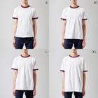 ohgenmanのThat's it! Let's washlet! Ringer T-shirtsのサイズ別着用イメージ(男性)