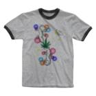 locus-loquaxのヤモリ Ringer T-shirts