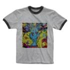chie_art_galleryのスペイシーガール Ringer T-shirts
