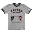 キッズモード某のグッドフレンズ Ringer T-shirts