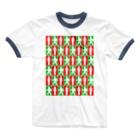 ★がらがら別館★の★歩行者信号機★四角★ Ringer T-shirts