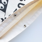 BAMI SHOPの白bamiくん Sacochesのスナップボタン部分