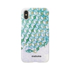 mabukaのウヲノメ ブルー Smartphone cases