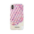 mabukaのウヲノメ ピンク Smartphone cases