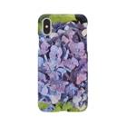 shizenhaの晴れ間に咲き誇る青と紫の紫陽花(あじさい) Smartphone Case