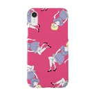 ogaaのpink girl Smartphone cases