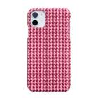 banzai-clothingの千鳥格子 紅色 ( iPhone 11 専用 ) Smartphone cases