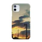軌跡の結晶の夕焼け Smartphone cases