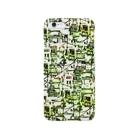 埃溜まりのベランダと配線(オレンジ・緑) Smartphone cases