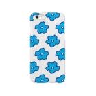 occasiの水色の花柄 Smartphone cases