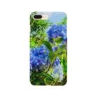 Una Villa Shopの紫陽花ブルー Smartphone cases