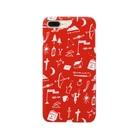 明季 aki_ishibashiの赤色のおまじない Smartphone cases
