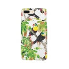 🌿kacyouen🌿の鳥(サンショクキムネオオハシ) Smartphone cases