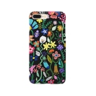 Rucolieのbotanical black Smartphone cases