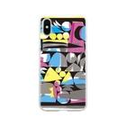 〈サチコヤマサキ〉ショップの木版画裏彩色風 Soft clear smartphone cases