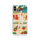 銭湯女子の銭湯ガール スマホケース Soft clear smartphone cases