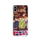 手作り作家*かめさん、兎にゃかなわないの季節の味覚 Soft clear smartphone cases