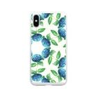 コウイチ イケノの朝顔輪紫陽花 Soft clear smartphone cases