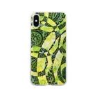 SENA0107のタンポポの花畑 Soft clear smartphone cases
