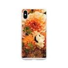 springBのDahlia Soft clear smartphone cases
