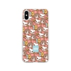 PetWORKs SUZURI Shopのでこニキ10th Soft clear smartphone cases