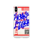 JoiのWork it like a I talk itのあおとあか Soft clear smartphone cases