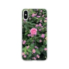 Callion's daydreamのピンクのお花 Soft clear smartphone cases