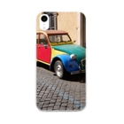 ARLECCHINIのシトロエン2CV Soft clear smartphone cases