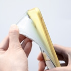 Okaza-kiokaのかべー Soft clear smartphone casesの質感