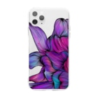 87のhana03 Soft clear smartphone cases