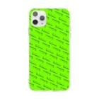 Poooompadoooourのなまけもの パターン/グリーン Soft Clear Smartphone Case