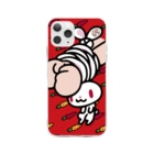 CHAX COLONY imaginariの【各20点限定】汎用うさぎ(1/red) Soft clear smartphone cases