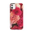 JADEM BALLETのFlower Soft clear smartphone cases