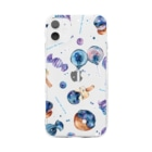 & colorsの星空スイーツ Soft clear smartphone cases