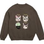 なにぬ猫-YAの<うちの子+にくきゅう*ポートレート>KHAW & DAOW&BEA&LUCKY Sweats