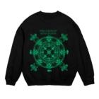 PygmyCat suzuri店の猫召喚魔法陣(緑線) Sweats