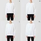 鳥と毛布の猫OL全身 Sweatsのサイズ別着用イメージ(男性)
