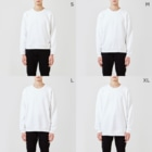 BASE-CAMPのBASE MOUNTAIN 03 WHITE Sweatsのサイズ別着用イメージ(男性)
