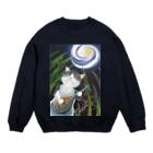 雪猫@LINEスタンプ発売中の月は琵琶の音に誘われて Sweats