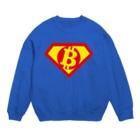 カマラオンテの「空を見ろ!」「鳥だ!」「飛行機だ!」「いや、ビットコインマンだ!」 Bitcoinman ○B スーパーマン パロディ 仮想通貨 投資 トレーダー Sweats