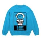 蒔重堂(マキエド)のBABY on Board (宇宙服) Sweats