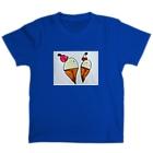 おやこのクロッキーのアイスクレープ T-shirts