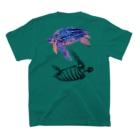 どうぶつのホネ、ときどきキョウリュウ。のオサガメ2 T-shirtsの裏面
