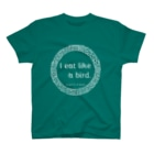 チヨスケのI eat like a bird.私は少食です。シリーズsiro T-shirts