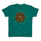 夏のどんぶり(ドンブリ) ブラザーズ【ドンブラ】の船の舵 T-shirts