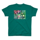cotton flowerの苔とモミジ T-shirts
