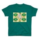 大貓和朋友的商店の大きな猫とともだちTシャツ(レトロ模様) T-shirts