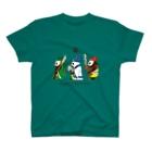 キッチュチャイナの横向き三国志パンダ T-Shirt